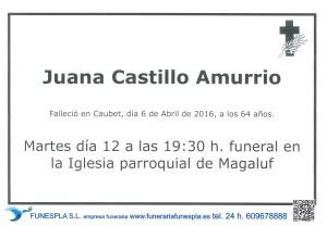 JUANA CASTILLO AMURRIO 6-4-2016