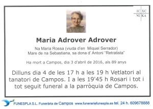 Maria Adrover Adrover 3-4-2016