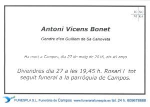 ANTONI VICENS BONET  27-05-2016