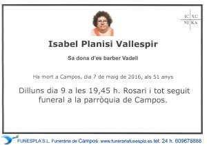 ISABEL PLANISI VALLESPIR 7-05-2016