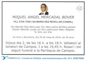 Miquel Angel Mercadal Bover 29-05-2016