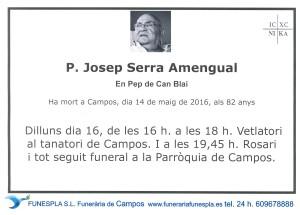 P. JOSEP SERRA AMENGUAL    14-05-2016