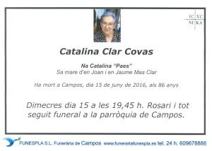 CATALINA CLAR COVAS   15-06-2016