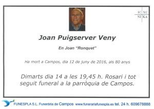 JOAN PUISERVER VENY   12-06-2016