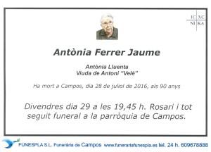 ANTONIA FERRER JAUME