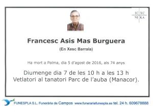 Francesc Asis Mas Burquera   05-08-2016