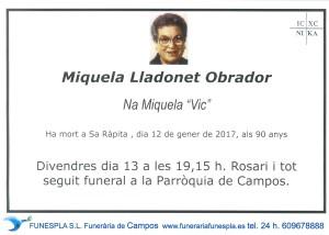 Miquela Lladonet Obrador
