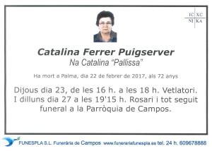 Catalina Ferrer Puigserver 22-02-2017