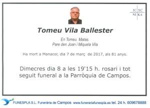 Tomeu Vila Ballester 07-03-2017