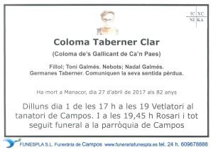 Coloma Taberner Clar 27-04-2017