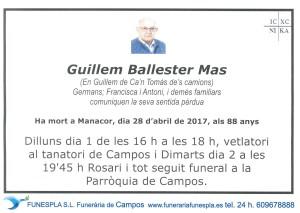 Guillem Ballester Mas 28-04-2017