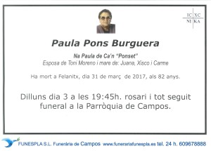 Paula Pons Burguera 31-03-2017