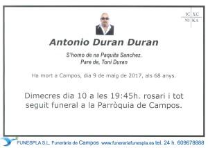Antonio Duran Duran 09-05-2017