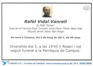 Rafael Vidal Vanrell 4-05-2017