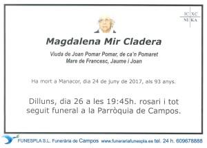 Magdalena Mir Cladera 24-06-2017