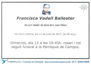 Francisca Vadell Ballester 11-07-2017
