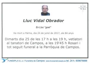 Lluc Vidal Obrador 24-07-2017