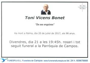 Toni Vicens Bonet 20-07-2017