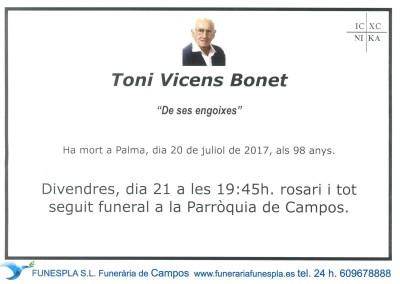 Toni Vicens Bonet   20/07/2017