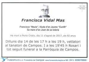 Francisca Vidal Mas 11-08-2017