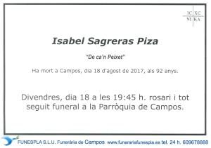 Isabel Sagreras Piza 18-08-2017