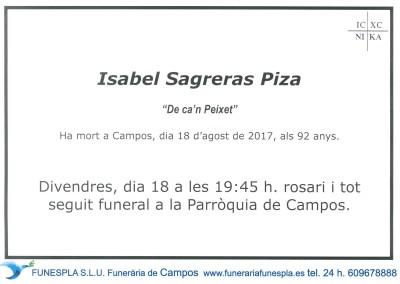 Isabel Sagreras Piza     18/08/2017