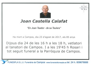 Joan Castella Calafat 23-08-2017