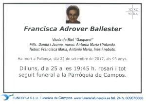 Francisca Adrover Ballester