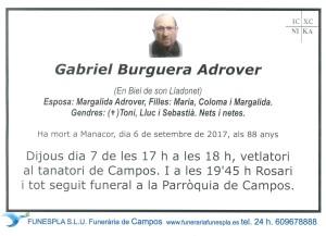 Gabriel Burguera Adrover 6-09-2017