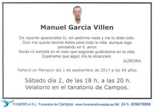 Manuel Garcia Villen 01-09-2017