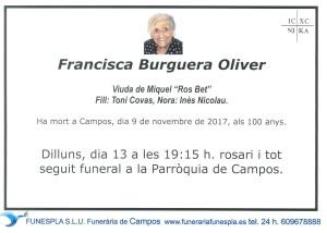 Francisca Burguera Oliver 09-11-2017