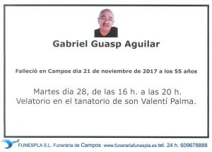 Gabriel Guasp Aguilar 21-11-2017