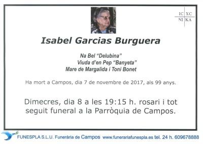 Isabel Garcias Burguerra   07/11/2017