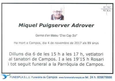 Miquel Puigserver Adrover   4/11/2017