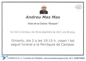 Andreu Mas Mas 30-12-2017