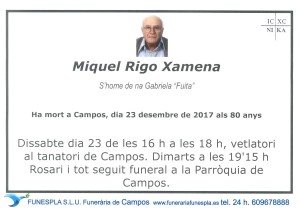 Miquel Rigo Xamena 23-12-2017