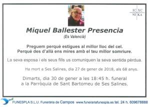 Miquel Ballester Presencia 27-01-2018