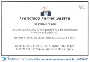 Francisco Ferrer Sastre 28-02-2018