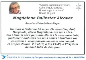 Magdalena Ballester Alcover 31-03-2018