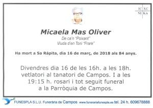 Micaela Mas Oliver 16-03-2018