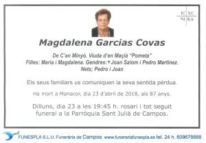 Magdalena Garcias Covas 23-04-2018