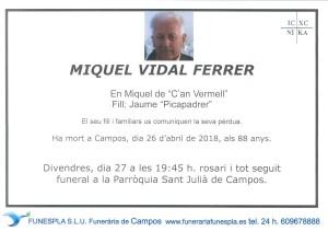 Miguel Vidal Ferrer 26-04-2018
