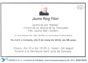 Jaume Roig Filori 09-05-2018
