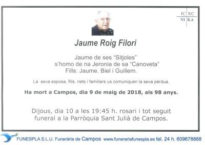 Jaume Roig Filori  09/05/2018
