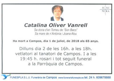 Catalina Oliver Vanrell  01/07/2018
