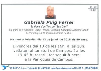 Gabriela Puig Ferrer   12/07/2018