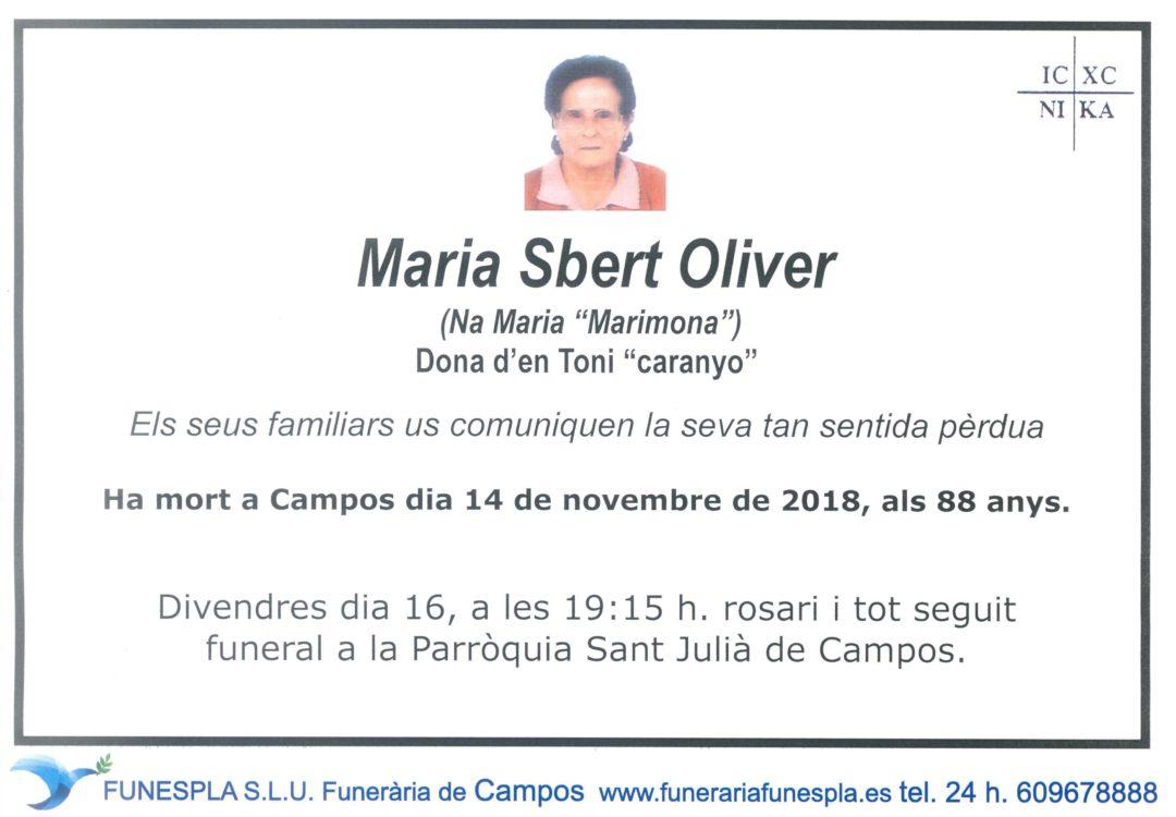 Maria Sbert Oliver  14/11/2018