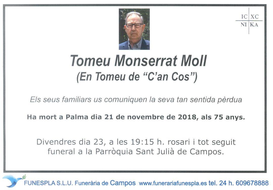Tomeu Monserrat Moll 21/11/2018