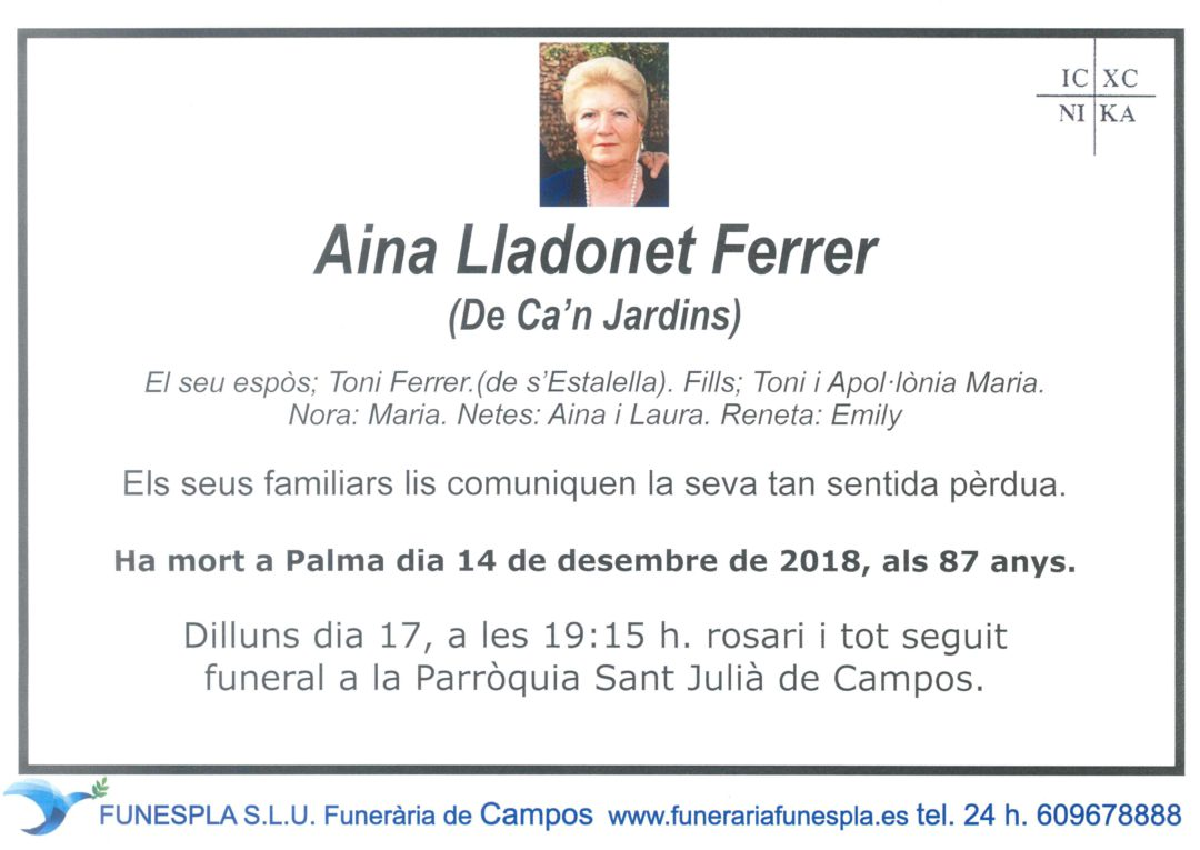 Aina Lladonet Ferrer 14-12-2018