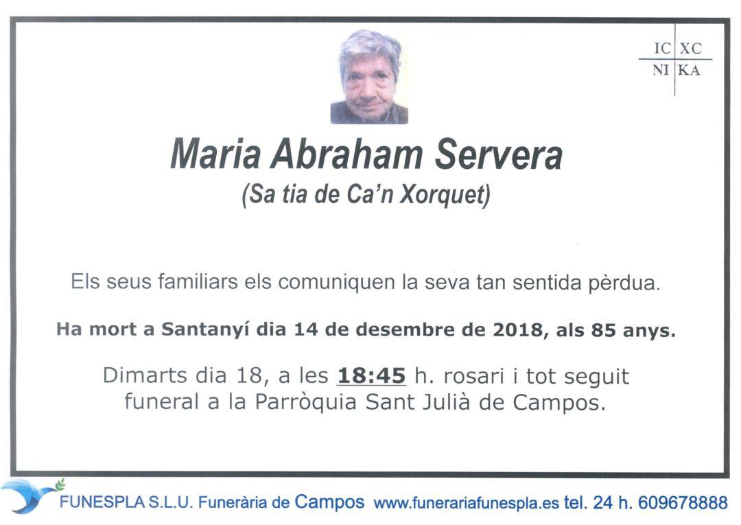Maria Abraham Servera  14-12-2018
